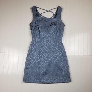 *Vintage* 1990's lace up back brocade mini dress